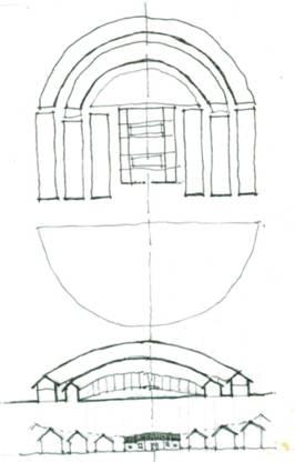 平面到剖面或立面的关系,是指建筑的垂直和水平方向的形状之间的相互